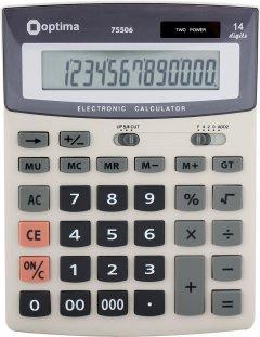 Калькулятор электронный Optima 14-разрядный (O75506)
