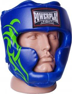 Боксерский шлем PowerPlay 3043 XL Синий (PP_3043_XL_Blue)