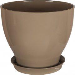 Вазон для растений CERAMIKA DESIGN Ксения КС 2 глянец 15 см Серо-коричневый (кц-6120)