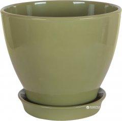 Вазон для растений CERAMIKA DESIGN Ксения КС 8 глянец 40 см Оливковый (кц-3761)