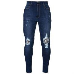 Джинси No Fear Check Knee Jeans Mens 32WS Dark Wash (4920463)