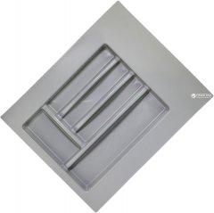 Лоток для столовых приборов Union Plast 400-450 мм 400х500х45 мм Серый (VR13993)