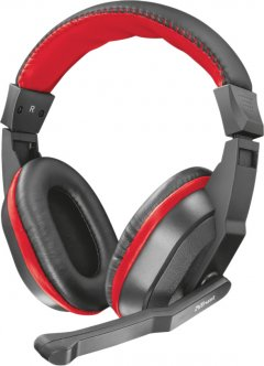 Наушники Trust Ziva Gaming Headset Black-Red (TR21953)
