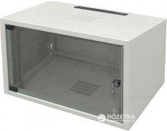 """Шкаф настенный серверный ZPAS SJ2 19"""" со стеклянной дверью 6U (WZ-3504-01-01-011)"""