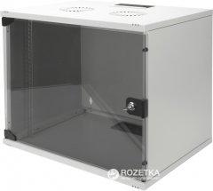 """Шкаф настенный серверный Digitus Professional SOHO 19"""" со стеклянной дверью 9U Серый (DN-1909-U-S-1)"""