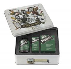 Подарочный набор для ухода за бородой Proraso Рефреш в металлической коробке (8004395006939)
