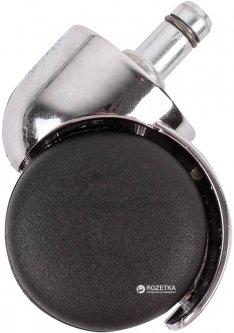 Мебельный ролик Smart 50 мм с площадкой со штифтом с хромированной вставкой Черный (VR35778)