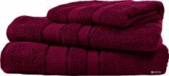 Набор махровых полотенец FaDolli Ricci 40x70, 50x90, 70x140 см Марсала (УЗ0101_Мрс)