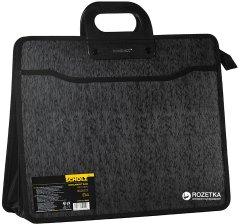 Портфель пластиковый Scholz на молнии B4 4 отделения Черный (8591662524406)