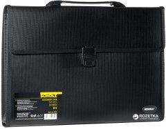 Портфель пластиковый Scholz B4 3 отделения Черный (8591662522600)