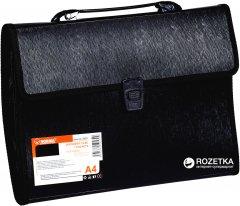 Портфель пластиковый Norma А4 3 отделения Черный (8591662505399)
