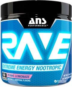 Предтренировочный комплекс ANS Performance Rave Extreme Energy Nootropic Розовый лимонад 210 г (483312)