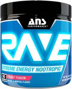 Предтренировочный комплекс ANS Performance Rave Extreme Energy Nootropic Фруктовая смесь 210 г (483310)