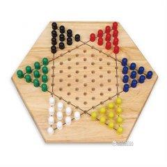 Деревянная настольная игра Viga Toys Китайские шашки (56143)