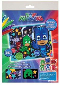 Аппликация и раскраска на бархате Перо PJ Masks Отважные герои (119859) (4820171711019)