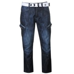 Джинси Airwalk Belted Cargo Jeans Mens 36WR Dark Wash (4931176)