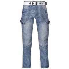 Джинси Airwalk Belted Cargo Jeans Mens 36WL Light wash II (4931195)