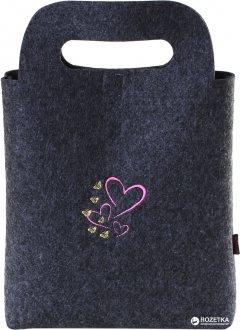 Сумка для подарка Red Point Gift bag 21х19 см Сердечки с бабочками (ИФ.01.В.11.00.188)