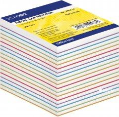 Бумага для заметок Economix Зебра 90х90 мм 1000 листов Цветная (E20939)
