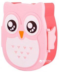 Набор для ланча фигурный Lunch Zen Сова 2 предмета Розовый (2000000032962)