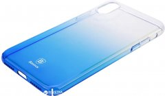Панель Baseus Glaze Case для Apple iPhone X/Xs Transparent Blue (WIAPIPHX-GC01)