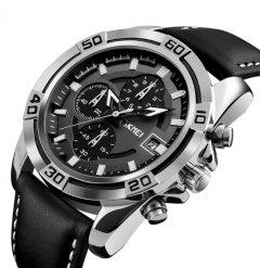 Мужские наручные часы Skmei Kapitan, классические с хронографом и датой