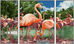 "Художественный творческий набор-триптих Schipper ""Фламинго"" 50х80 см (9260782) (4000887927823)"