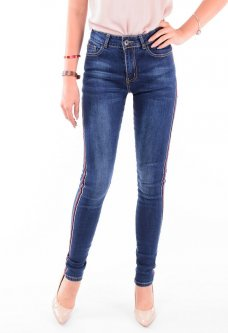 Женские джинсы с лампасами 25