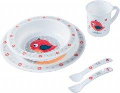 Набор посуды Canpol Babies Cute Animals Птичка Красный 5 предметов (4/401_red) (5901691812673)