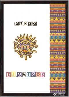 Рамка для дипломов 33.Amigos 21х30 см Коричневая (KF2130BR)