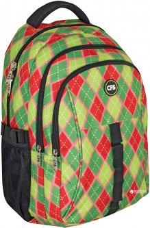 Рюкзак молодежный Сool For School 42 x 28 x 18 см 21 л Зелено-красный (CF86305)