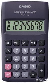 Калькулятор Casio 8 разрядный 69.5х118х18 (HL-815L-BK)