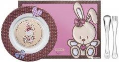 Детский набор Tramontina Baby Le Petit из 4 предметов Розовый (64250/685)