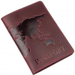 Обложка для паспорта кожаная Shvigel 13955 Бордовая