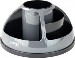Подставка-органайзер Axent Duoton круглая 17х10х17 см Пластиковая Серая (2204-14-a)