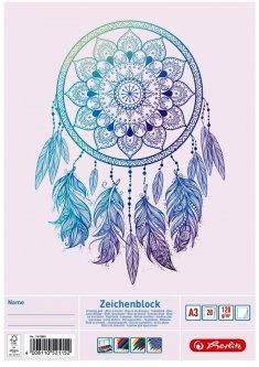 Альбом для рисования Herlitz A3 20 листов 120 г/м2 Ловец снов (11415882D)