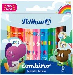 Фломастеры утолщенные Pelikan Combino 9 цветов (814553)