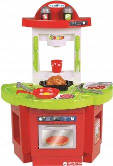 Моя первая кухня Ecoiffier Френч с аксессуарами Салатовая с красным (1719) (3280250017196)