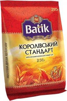 Чай черный байховый Batik Королевський стандарт Цейлонский крупнолистовой 250 г (4820171913932)