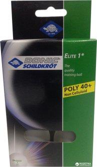 Мячи для настольного тенниса Donic Elite 1* 40+ 6 шт Белые (618016-40+)