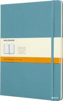 Записная книга Moleskine Classic 19 x 25 см 192 страницы в линейку Океанский синий (8058341716076)