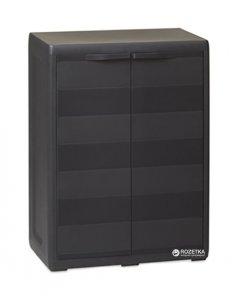 Пластиковый шкаф Toomax Elegance S 2 двери Черный (5662kmd)