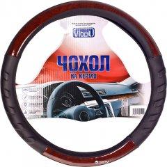 Чехол на руль Vitol HU 100107 BK L Черный с деревом