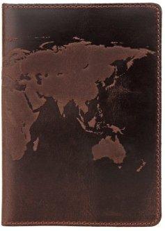 Оригинальная обложка на паспорт из натуральной кожи Shvigel 16135 Коричневая