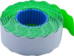 Этикет-лента Buromax 22 х 12 мм 1000 этикеток фигурная внутренняя намотка 10 шт Зеленая (BM.281201-04)