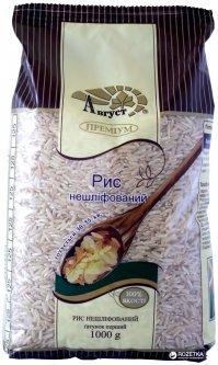 Рис Август длиннозернистый нешлифованный 1 кг (4820019600697)