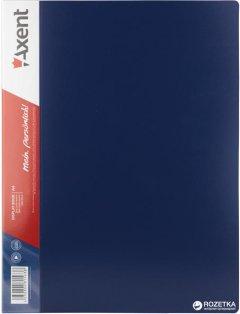Папка пластиковая Axent А4 100 файлов Синяя (1200-02-A)