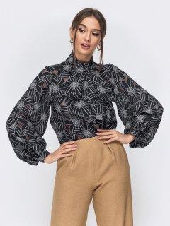 Блузка Dressa 44547 размер 42-44 цвет черный
