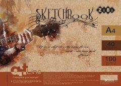 Скетчбук ZiBi ART Line А4 на пружине 40 листов с белым внутренним блоком 100 г/м2 (ZB.1486)