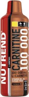 Жиросжигатель Nutrend Carnitine 100 000 1000 мл Лимон (8594073177490)